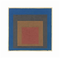 study for homage to the square: night shade by josef albers