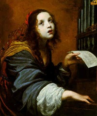 saint cecilia by felice (il risposo) fischerelli