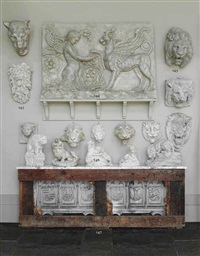 feline figures and maquettes (6 works) by giovanni antognazzi