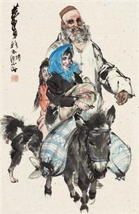 新年 镜心 设色纸本 by huang zhou