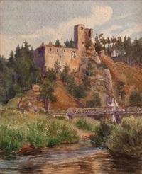 ruine lichtenfels (+ ruine liebenstein ob steyr, 1909; 2 works) by karl aschenbrenner