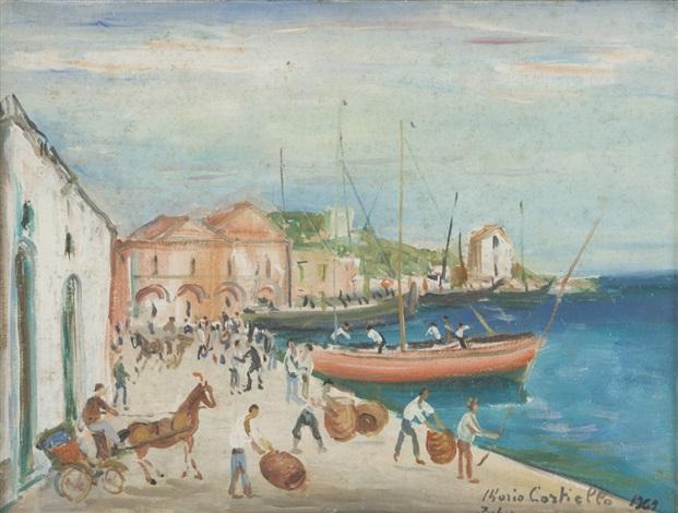 ischia il vecchio porto by mario cortiello