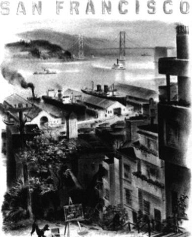 san francisco cityscape by louis macouillard