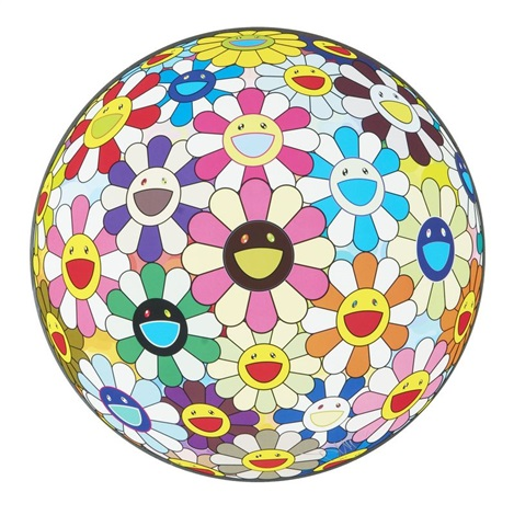 flowerball cosmos 3d by takashi murakami