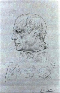 portrait of pablo picasso by paul lemagny