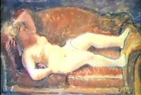 desnudo en el sofá by jose aguiar garcia