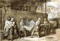 le lévite d'ephraim (2 studies) by alexandre-francois caminade