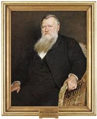 porträtt av riksantikvarien hans olof hildebrand by elisabeth warling