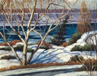 winter riverscape by frank c. kirk