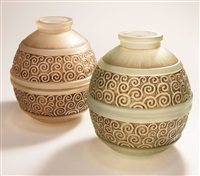 2 vasen (pair) by val saint-lambert