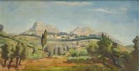 la montagne sainte-victoire by charles alexandre picart le doux