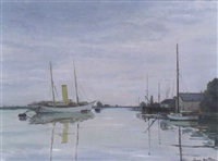 hamble river near southampton by jean helleu