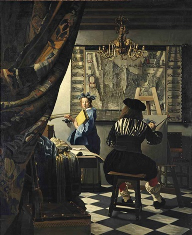 the art of painting by johannes van delft vermeer