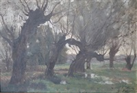 les saules en bord de rivière by jacinthe pozier