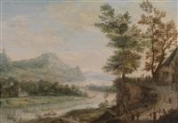 flusslandschaft by johannes huibert (hendric) prins