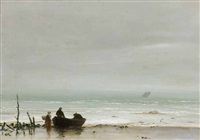 le retour des pêcheurs by ludovic lepic