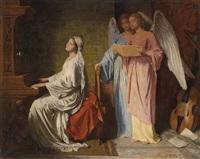 das spiel der hl. cäcilia von engeln begleitet by simon glücklich