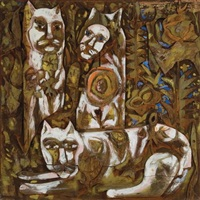 three cats by bernard langlais