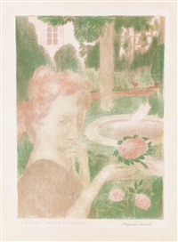 le bouquet matinal (+ * et c'est la caresse de ses mains; 2 works from amour) by maurice denis