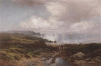 purlock common on the bristol channel by w.r. whitby