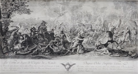 episodio de la batalla de alejandr magno after le brun by pierre picault