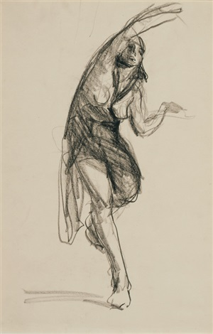 isadora duncan and at the opera (2 works) by robert henri