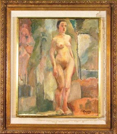 standing nude by george benjamin luks