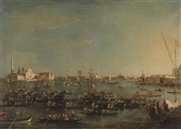 gondola racing, grand canal venice by francesco guardi