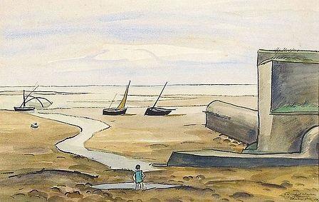 bord de plage à marée basse by louis robert antral