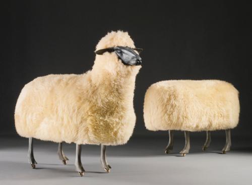 moutons de laine 2 works by françois xavier lalanne