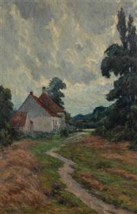 paysage à la ferme by henry pieter edward rul