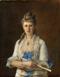 kvinneportrett by peter nicolai arbo