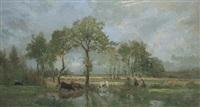 marais dans l'estuaire de la loire by marie guillaume charles leroux