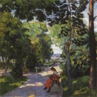 nagybányai parkban (in the park in nagybánya) by géza kádár