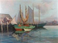 safe in port by hjalmar amundsen