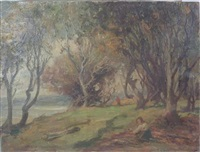 woodland on the solway by william stewart macgeorge