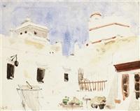 intérieur de cour au maroc by eugène delacroix