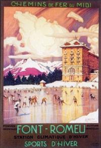 font-romeu, patinage et hockey by tony georges roux
