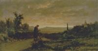paesaggio al tramonto by attilio simonetti