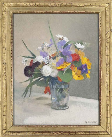 bright flowers by sir george clausen