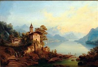 evening at lake como by henry jackel