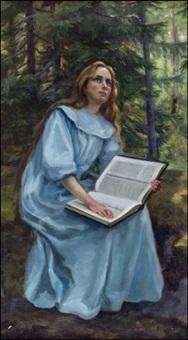 lukeva tyttö - läsande flicka by nina ahlstedt