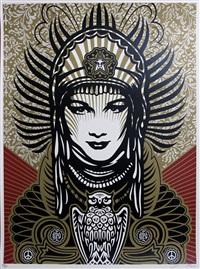 peace goddess by shepard fairey