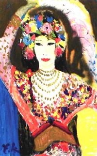 komposition med guddommelig kvinde by yrsa lind