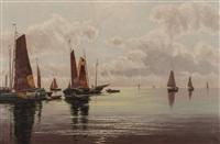 łodzie rybackie na morzu by ernst lorenz