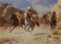 the diversion - bozeman trail, 1866 by liang zhanyan