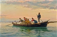 fischerboot vor venedig by pietro gabrini