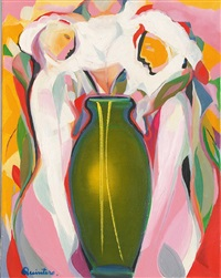 figuren mit vase by guillermo quintero