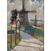 Windmills at the Pas de Calais, 1926
