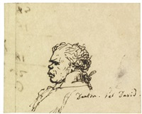 portrait of georges-jacques danton, bust length, in profile to the left by jacques-louis david